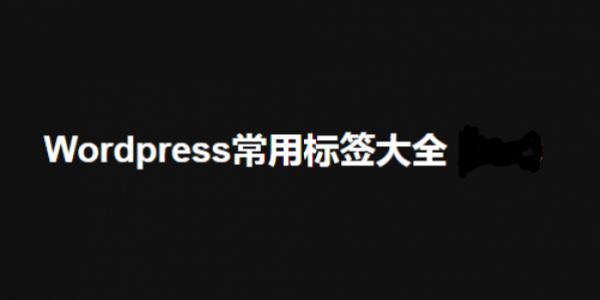 【WordPress】WordPress标签大全—Michael王朝