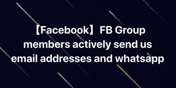 【Facebook】群组客户主动发邮箱和Whatsapp—Facebook 群组营销案例(三)
